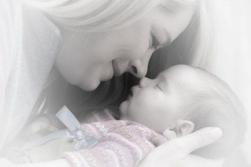 Kisgyerek anyával - Keresztelés - Vigyázó angyalka lámpa